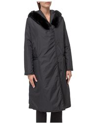P.A.R.O.S.H. Hooded Coat - Zwart