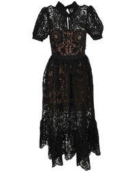 Self-Portrait Dress - Zwart