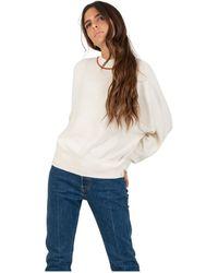 Maison Scotch Half Neck Sweater - Wit