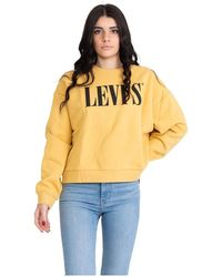 Levi's Graphic Diana Crew Sweatshirt - Geel