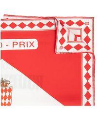 CASABLANCA Silk Scarf With Logo - Rood