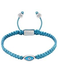 Nialaya String Bracelet With Evil Eye - Bruin
