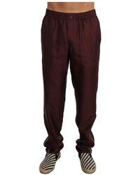 Dolce & Gabbana Dotted Pajama Pants - Rood