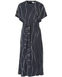 Equipment Chemelle Silk Dress - Blauw