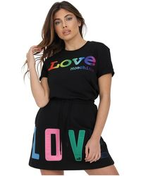Love Moschino T-shirt With Front Print - Zwart
