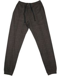 Dries Van Noten Checked Jogging Trousers - Marron