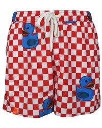 Sun 68 Costume Da Bagno Boxer Con Paperelle - Rood