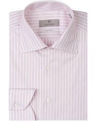 Canali Striped Shirt - Rood