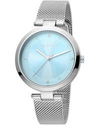 Esprit Es1l165m0055 Breezy Mesh Watch - Blauw