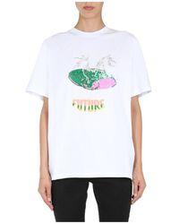 MSGM Round Neck T-shirt - Wit