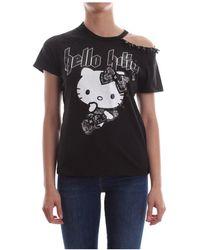 Pinko Candycane T Shirt And Tank Women - Zwart