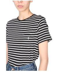 Saint Laurent Monogram T-shirt - Zwart
