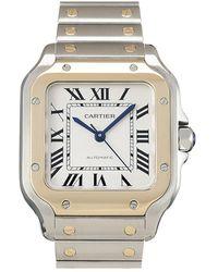 Cartier Gebrauchte Santos-Uhr - Gelb