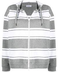Brunello Cucinelli - Stripe print hoodie - Lyst