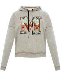 M Missoni Logo-embroidered Hoodie - Grijs