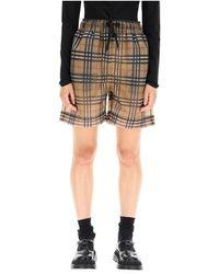 Burberry Tawney check mesh shorts - Marron