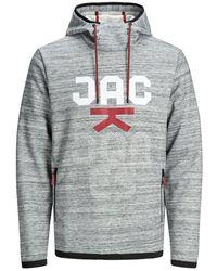 Jack & Jones Front Logo Hoodie - Grijs