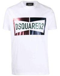 DSquared² Camiseta Logo - Bianco