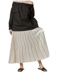 Vivetta Stripe skirt - Neutro