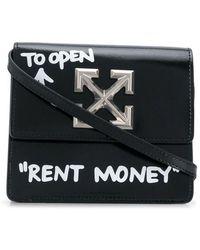 Off-White c/o Virgil Abloh Turn To Open Jitney 0.7 Logo-plated Crossbody Bag - Zwart