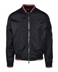 Dior Jacket with ribbed red striped - Nero