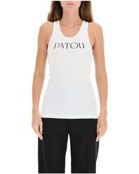 Patou Tank Top With Logo Print