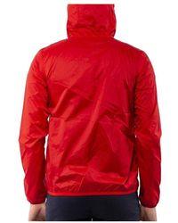 K-Way Jacques Nylon Jersey Jacket Rojo