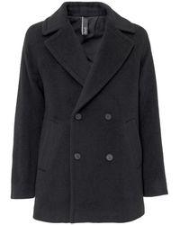 Hevò Coat With Buttons - Zwart