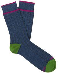 Gallo Ribbed Socks - Blauw