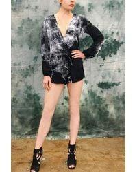 Michelle Jonas Long Sleeve Christie Romper - Multicolor