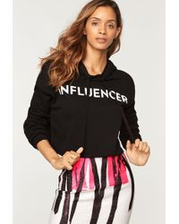 MILLY - Influencer Cropped Hoodie - Lyst