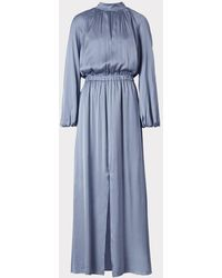 MILLY Emmie Stretch Silk Dress - Blue