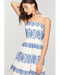 MILLY - Mykonos Embroidered Linen Mini Mila Dress - Lyst