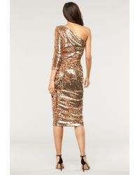 MILLY - Double Sided Sequins Sienna Dress - Lyst