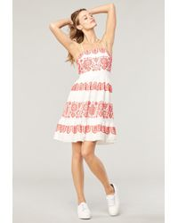 3d26f5c746e MILLY - Mykonos Embroidered Linen Mini Mila Dress - Lyst