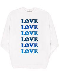 MILLY - Love Oversized Sweatshirt - Lyst