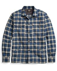 RRL | Plaid Cotton Overshirt | Lyst