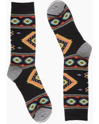 Minnetonka Southwest Blanket Sock - Black