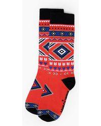 Minnetonka Santa Fe Sock - Red