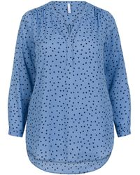 Miss Etam Dames Blouse Print - Blauw
