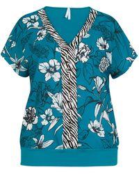 Miss Etam Dames Top Print - Blauw