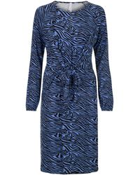 Miss Etam Dames Jurk Print - Blauw