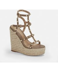 Missguided Taupe Dome Stud Wedges - Multicolor