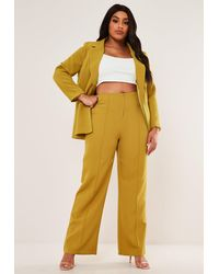 Missguided Size Olive Co Ord Basic Wide Leg Pants - Green
