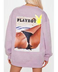 Missguided X Lilac Bikini Graphic Sweatshirt - Purple