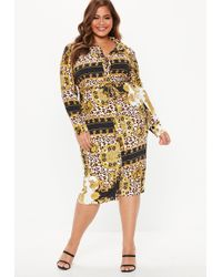 62633f54a1d Lyst - Missguided Plus Size Brown Leopard Print Skater Dress in Brown