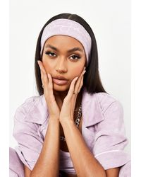 Missguided Sean John X Lilac Towelling Headband - Purple