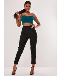Missguided Teal Lace Trim Bralet - Multicolor