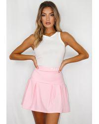 Missguided Msgd Box Pleat Tennis Skirt - Pink