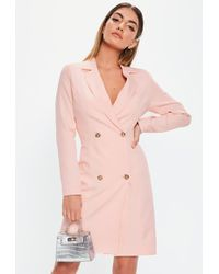 Missguided Tall Pink Tailored Blazer Dress